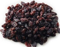 Seedless natural raisins