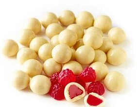 White Chocolate Raspberries 100g